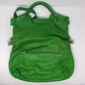 Foley + Corinna Green Fold Over Crossbody Bag